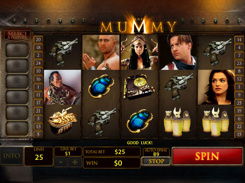 Relive the film playing the mummy slots hacked villa menu