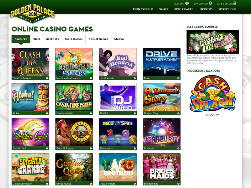 best online casino games golden casino games