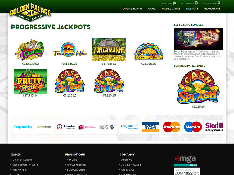 golden palace online casino ra play