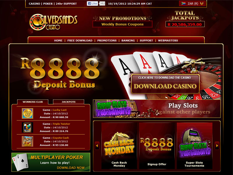Silversands casino no deposit