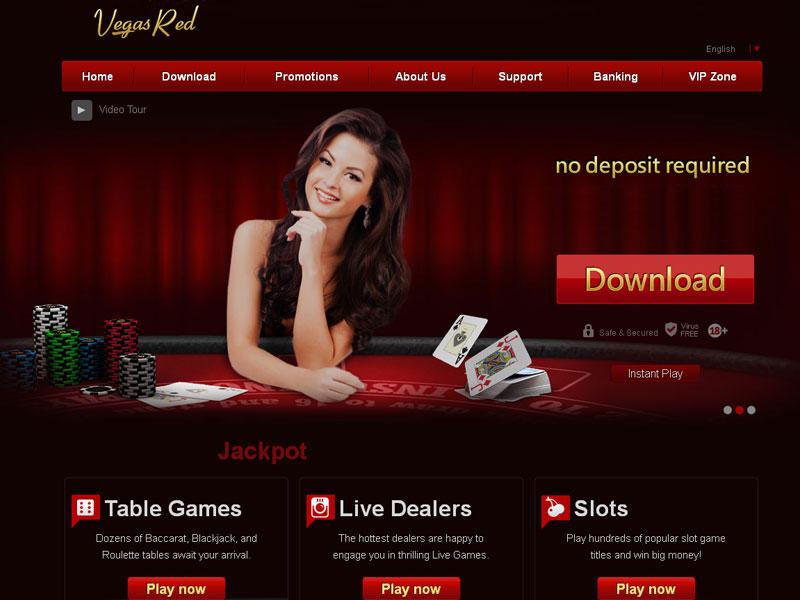 casino vegas red online