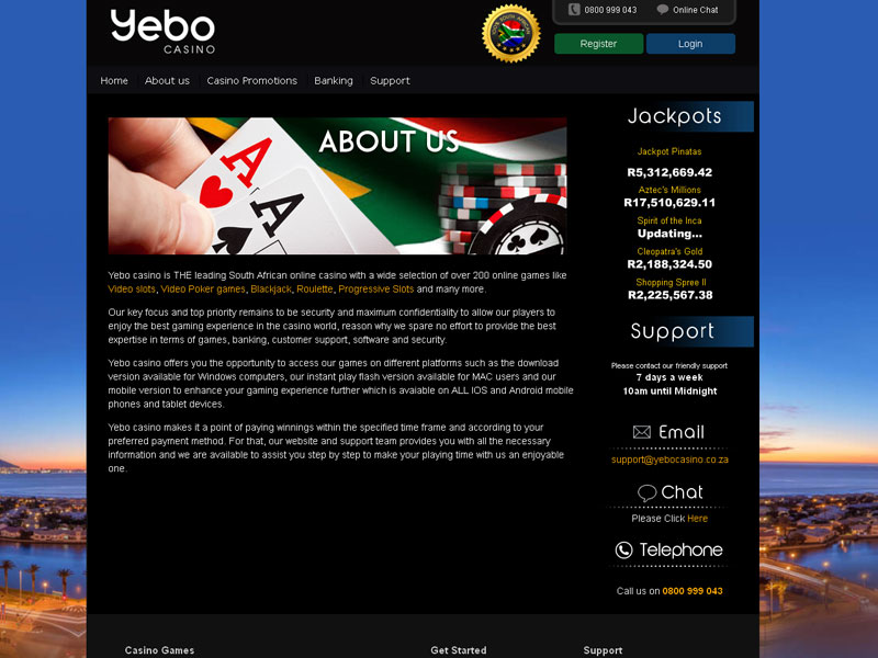 no deposit codes for yebo casino